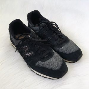 New Balance Black Suede Grey Sneakers
